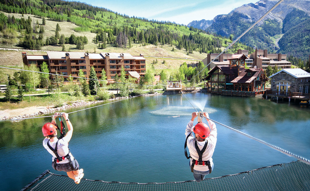 Summer has the zip line, mini-golf, climbing walls, go carts, water bikes,  and alpine slide.