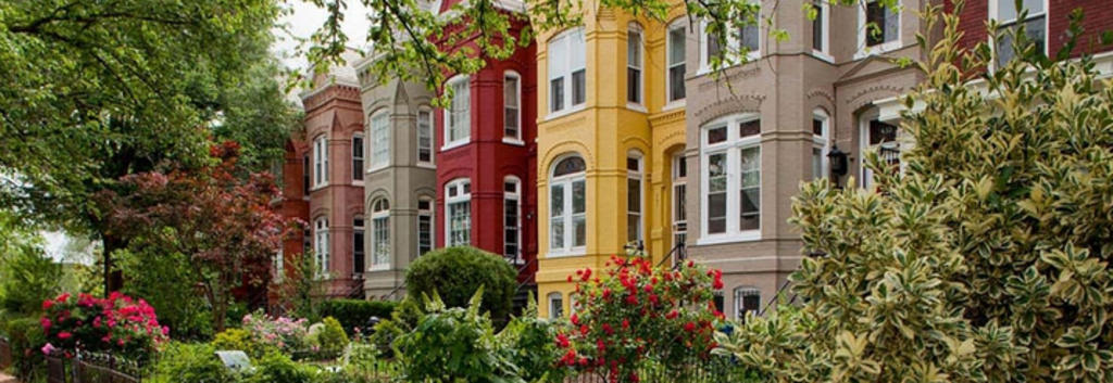 Typical neighborhood block.