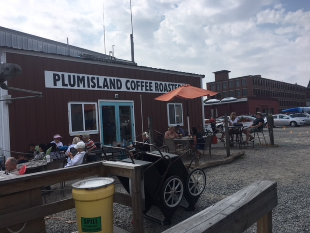 One of many coffee shops in town and this one is on the water